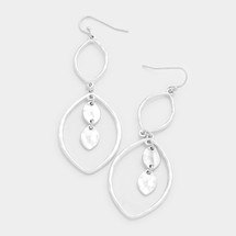 Silvery Teardrops Earrings *Limited Edition*