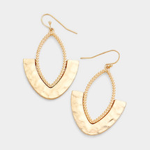 Hammered Drop Earrings *Limited Edition*