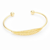 Golden Leafy Feather Cuff *Limited Edition*