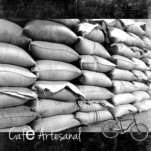 coffee burlap sacks stacked on top of each other