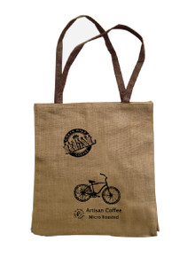 Jute Shopping Bag Hacienda Real Artisan Coffee