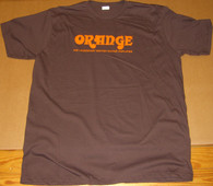 NEW ORANGE RETRO BROWN T-SHIRT  -  MEDIUM