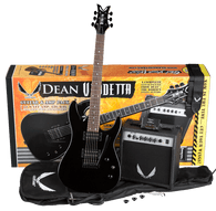 NEW DEAN Vendetta XM Tremolo Pack - MBK w/Amp