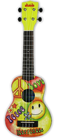 NEW KALA UKADELIC SERIES SOPRANO UKULELE Peace and Love