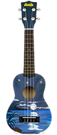 NEW KALA UKADELIC SERIES SOPRANO UKULELE Tropical Night