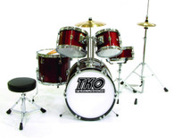 NEW TKO TKO101WR 5-Piece Complete Junior Drum Set - Wine Red