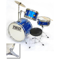 TKO 99 TKO99B 3-Piece Junior Drum Set - Blue