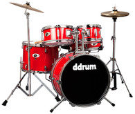 NEW DDRUM D1 JUNIOR 5-PIECE DRUM KIT - CANDY RED