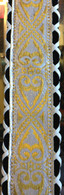 NEW JODI HEAD GUITAR STRAP BROCADE HANDLACED TONY WHITE #18