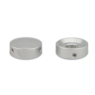 NEW BAREFOOT BUTTONS V1 - SILVER - 2 PACK