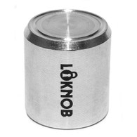 """NEW LOKNOB FUGGEDABOUDIT TOUR CAP 3/4"""" OD silver for 1/4"""" shaft cts style pots-1 13126CTS"""
