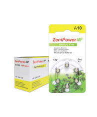 ZeniPower hearing aid batteries size 10
