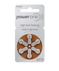 Power One hearing aid battery size 312