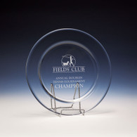 Accolade Award Plate with Stand, 2 Sizes Available