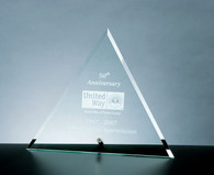 Beveled Triangle with Aluminum Stand, 3 Sizes Available