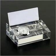Business Card Holder w/clock