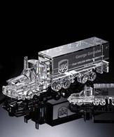 """Clear Crystal Truck (2.25""""H x 7""""W; 3""""H x 10""""W)"""