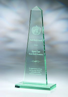 Jade Crystal Obelisk, Available in 3 Sizes