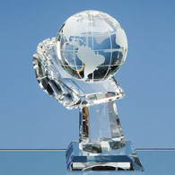 World Globe in Crystal Hand