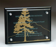 Black Glass Plaque, Available in four sizes