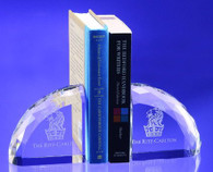 Crystal Bookends Pair