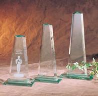 Jade Pinnacle Glass Award, 3 Sizes Available