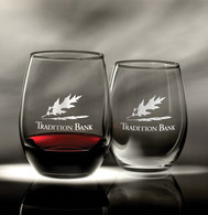 Stemless Wine Glasses, Available in 2 sizes
