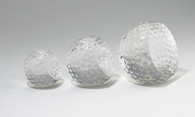 Faceted Golf Ball Trophy, 3 Sizes Available