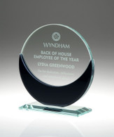 Beautiful Jade Glass Award  combined with Contemporary Black Glass