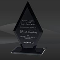 Black Glass Arrowhead Award, Available in 3 Sizes