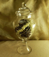 Large Footed Apothecary Candy Jar