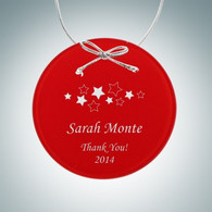 Beveled Red Circle Ornament