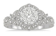 1/2 CTW Diamond Lovebright Engagement Ring