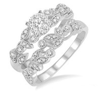 1/2 CTW Diamond Lovebright Wedding Set