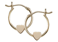 HD5 Heart Hoop Earring