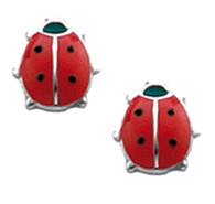 ES318 Ladybug Earrings