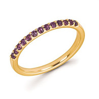 Amethyst Stackable Band
