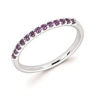 Created Alexandrite Stackable Band