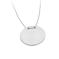 Engravable Oval Necklace