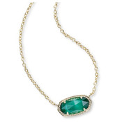 Kendra Scott Elisa Necklace in Emerald Cat's Eye (May)