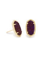 Kendra Scott Ellie Earring Gold Tone/Plum Drusy