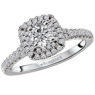 Cushion Halo Diamond Wedding Set
