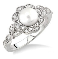 6.5mm Cultured Pearl Ring