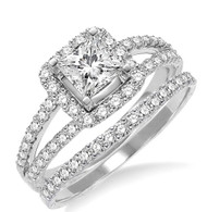 1.30cttw Diamond Engagement Set