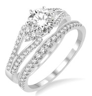 1.00cttw Diamond Bridal Set
