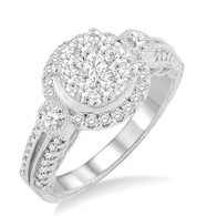 1.00cttw Lovebright Engagement Ring