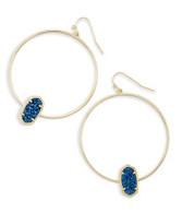 Kendra Scott Elora Earring Gold Tone/Blue Drusy