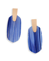 Kendra Scott Aragon Earring Rose Gold Tone/Navy Dusted Glass