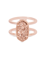 Kendra Scott Elyse Ring Rose Gold Tone/Rose Drusy Size 6