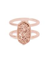 Kendra Scott Elyse Ring Rose Gold Tone/Rose Drusy Size 8